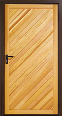 Garador Half Chevron Left Timber Panel Garage Side Door
