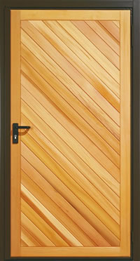 Garador Half Chevron Right Timber Panel Garage Side Door