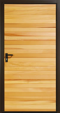 Garador Horizontal Cedar Timber Panel Garage Side Door