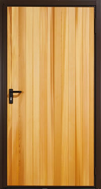 Garador Vertical Cedar Timber Panel Garage Side Door