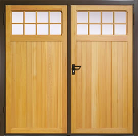 Garador Ashton Timber Panel Side-Hinged Garage Door