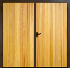 Garador Vertical Cedar Timber Panel Side-Hinged Garage Door